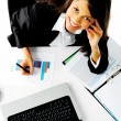 Happy working woman — Stock Photo #11445091