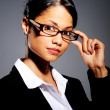 Hispanic woman with spectacles — Stock Photo #11445106