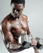 Weights training — Stock Photo