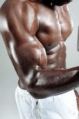 Flexionando os músculos — Foto Stock