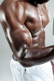 Flexing muscles — Stock Photo