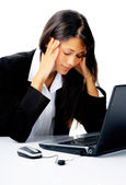 Businesswoman stressed out — Foto Stock