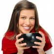 Happy festive woman — Stockfoto