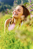 Happy woman outdoor — Stock Photo