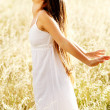 Joyful carefree woman - Stockfoto