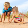 Siblings learning together — Stock Photo