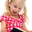 Happy book read for young girl — Stock Photo #11490581