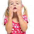 Funny face of young girl — Stock Photo
