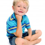 Attractive blonde child — Stock Photo #11490725
