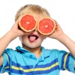 Grapefruit fun - Stock Photo