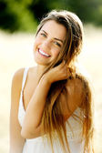 Cute carefree woman — Stock Photo