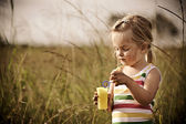 Carefree child outdoors — Stock Photo