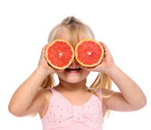 Grapefruit child — Stock Photo
