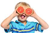 Grapefruit fun — Stock Photo