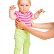 Infant learining how to stand — Stock Photo #10997174