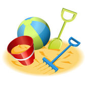 Beach toys — Vector de stock
