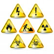 Set of warning signs — Stockvektor