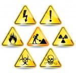 一連の警告サイン — ストックベクタ