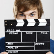 Stock Photo: Showing clapboard