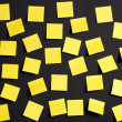 Stock Photo: Yellow notes