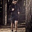 Runing in the forest - Stock Photo