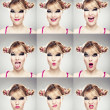 Multiple faces expressions - Stock Photo