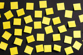 Yellow notes — Stock Photo