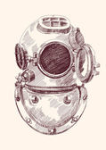 Antike divers Helm — Stockvektor