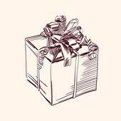 Vintage gift box vector illustration — Stock Vector