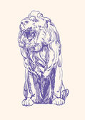 Lion king vector illustration — Stock Vector