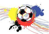Piłki nożnej, piłka nożna. ilustracja wektorowa. — Wektor stockowy