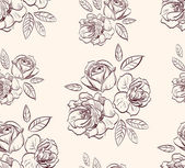 Vintage floral rose background — Stock Vector