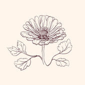 Piękne kwiaty wektorowych ilustracji — Wektor stockowy