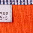 Stock Photo: Clothing label