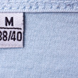 Label with M size — Foto de Stock