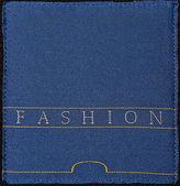 échantillon de tissu bleu — Photo