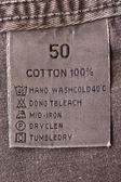 Clothing tag — Stock Photo