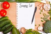 Lista de compras — Foto Stock