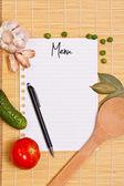 Menu page — Stock Photo