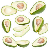 Collection of avocados — Stock Photo
