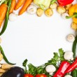 Colorful vegetable frame — Stock fotografie