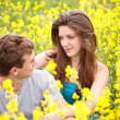 Couple loving each other in nature — Stock Photo #11072683
