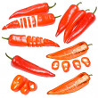 Collection of red peppers — Stock Photo #11110072