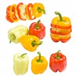 Collection of colored paprika — Foto Stock