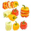Stock Photo: Collection of colored paprika
