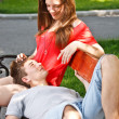 Foto Stock: Young couple