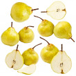 Stock Photo: Collection of pears