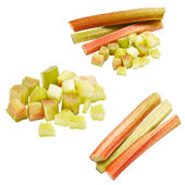 Collection of rhubarb — Stock Photo