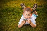 Preschooler boy — Stock Photo