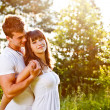 Love couple embracing — Stock Photo